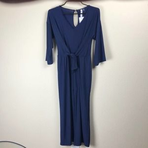 NWT NY Collection women's XSP navy jumpsuit